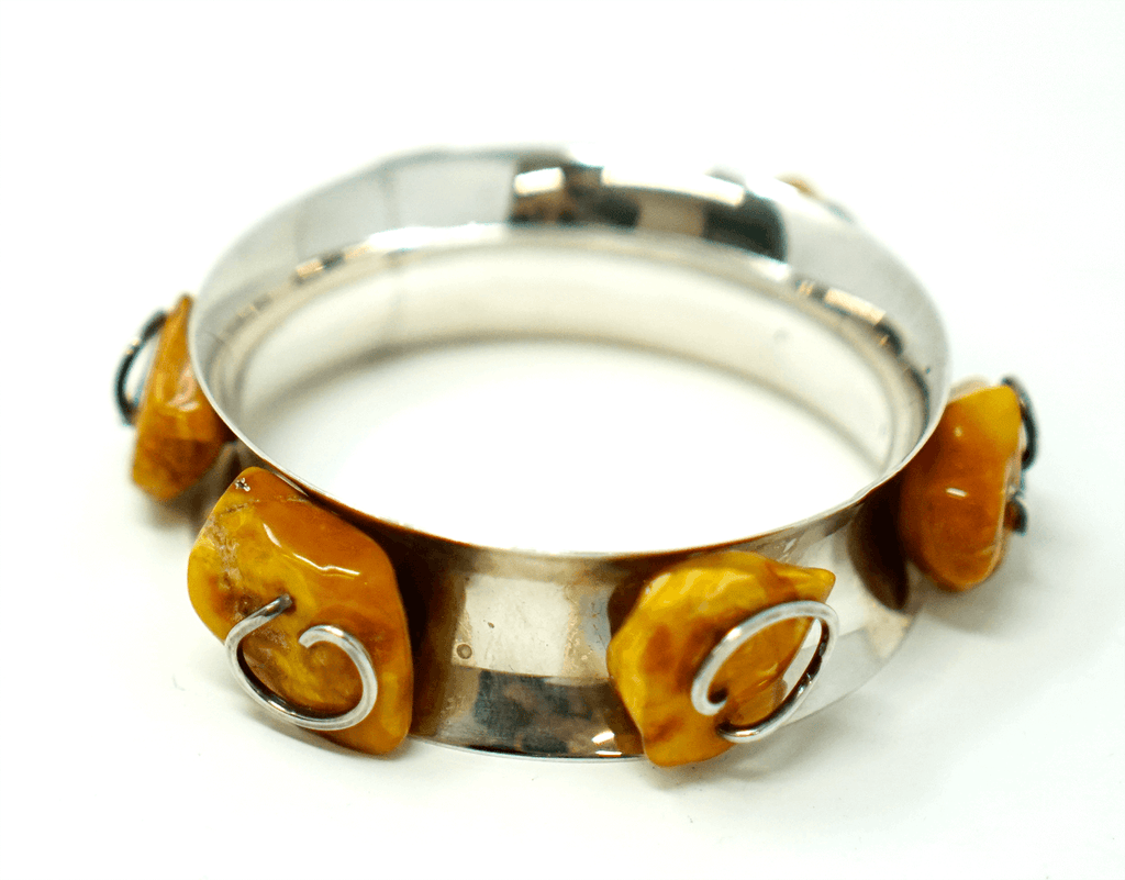Vintage Baltic Butterscotch Amber Bracelet