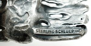 Walter Schluep Modernist Sterling Silver Brooch