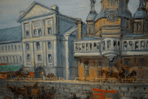 Wladimir Schepansky Oil Painting of Old Montreal