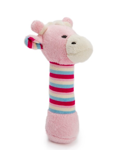 Add a Pink Giraffe Baby Rattle (15cm)