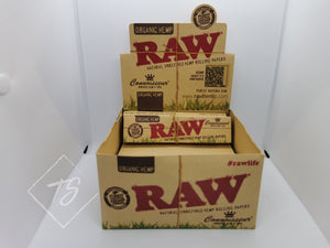 Raw Organic Hemp King Size Slim Rolling Paper with Tips