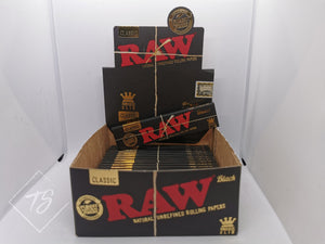 Raw Black King Size Slim Rolling Paper