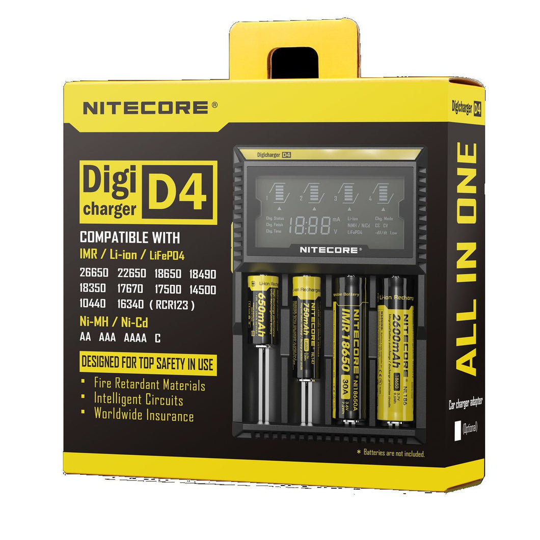 Nitecore Digicharger D4 EU UK Plug