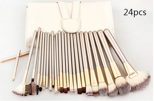 Gold Makeup Brush Set (12 pcs)