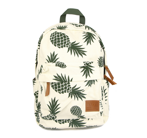Pineapple Backpack Green Prints