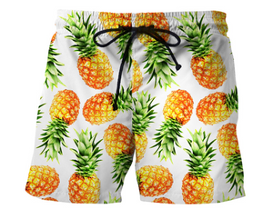 Pineapple Men's Casual Beach Shorts