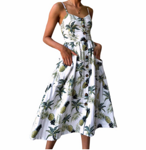 Pineapple Style Women's Dress