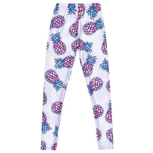 Pineapple Print Fitness Leggings