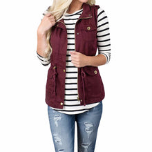 Women's Lightweight Sleeveless Stretchy Drawstring Jacket Vest with Zipper