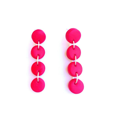 Pendientes Chicago Circulos 4S rojo | Red Power