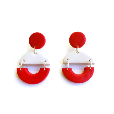 Pendientes Arizona gris & rojo | Red Power