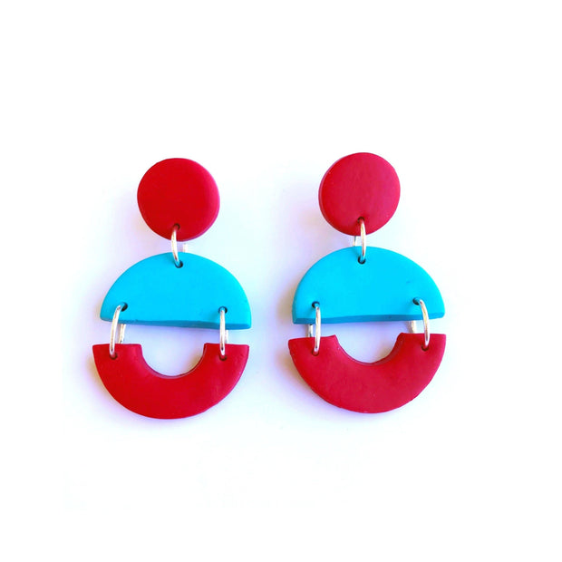 Pendientes Arizona turquesa & rojo | Red Power