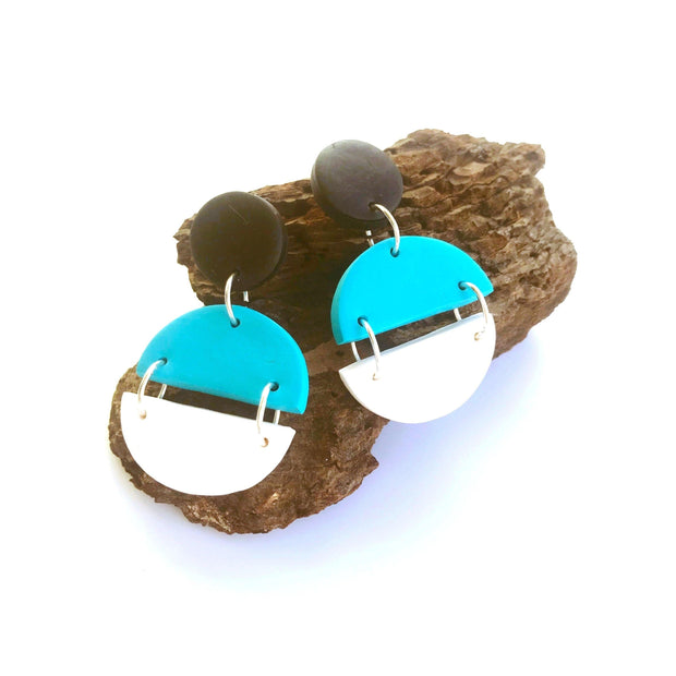 Pendientes Arizona blanco & turquesa | Clasic