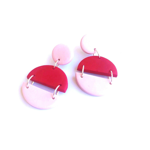 Pendientes Arizona rojo & rosa | Red Power