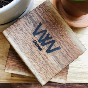 """WW"" Coasters - Wall Woodworking"