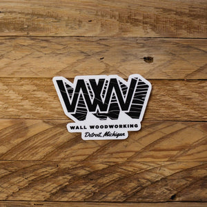 WW Sticker - Wall Woodworking