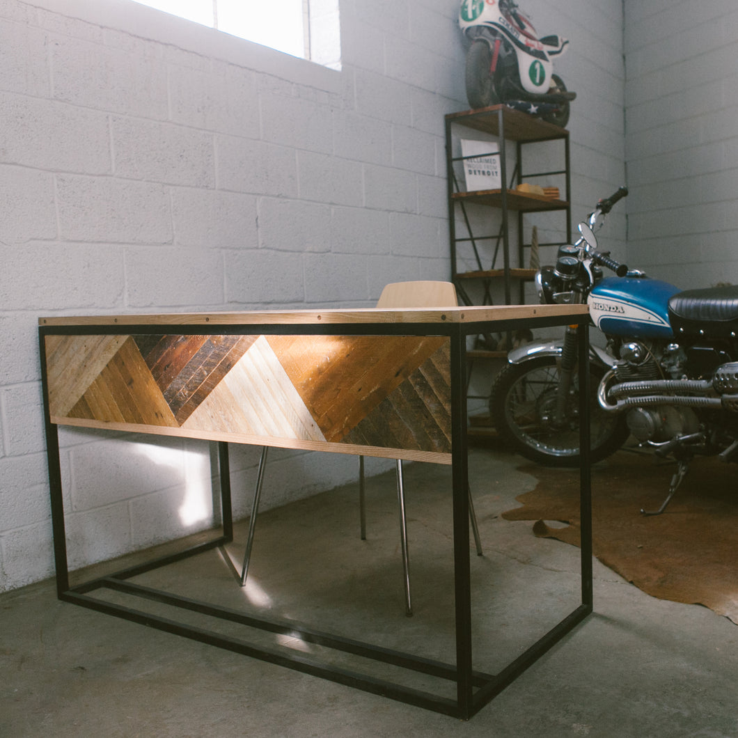 Reclaimed + Metal Desk