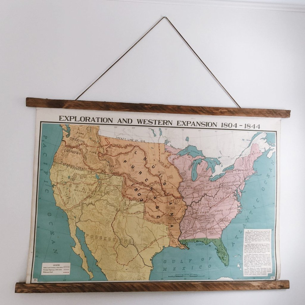 Vintage Maps - Wall Woodworking