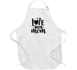 I Love You Mom Mug Apron