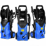 Electric Pressure Washer Cleaner with Hose Reel-Blue