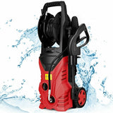 Electric Pressure Washer Cleaner with Hose Reel-Red