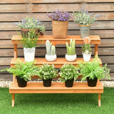 Wood step Plant Stand