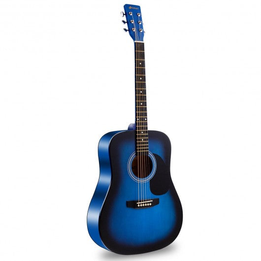 "Sonart 41"" 6 Strings Acoustic Folk Guitar-Blue"