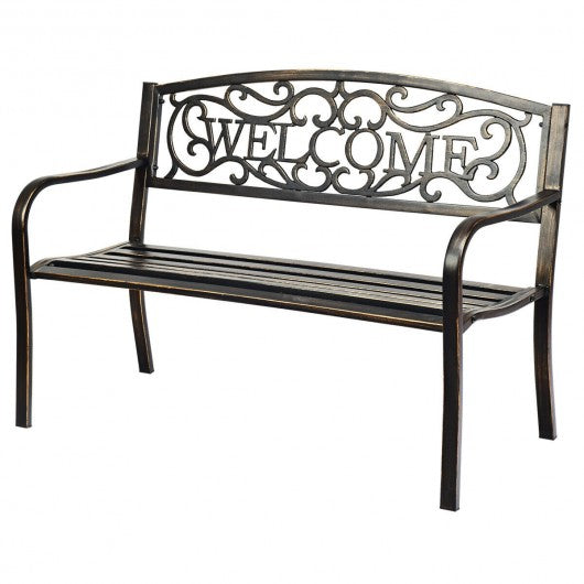 Outdoor Furniture Steel Frame  Garden Bench