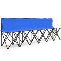 Portable Folding 6 Seats Chair- Sports Bench-Blue