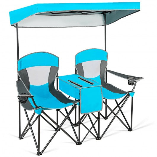 Canopy Chairs w- Cup Holder-Blue
