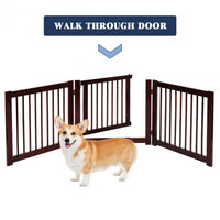 Folding 3 Panel Wood Dog Fence-24""