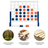 Wooden 4 in a Row Game Toy For Adults Kids with Carrying bag-White