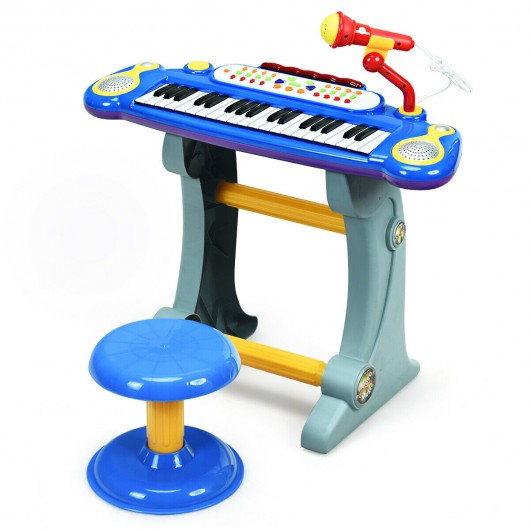Electric Keyboard-Kids Toy Piano-Blue