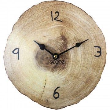 Tree slice Wall clock