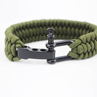 Paracord Survival Bracelet with Adjustable D Shackle