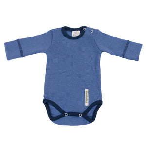 Merino Long Sleeve Bodysuit - BLUE