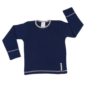 Merino Wool Long Sleeve T-shirt - BLUE OCEAN