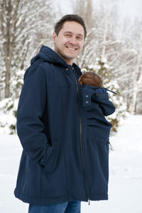 Kaya Softshell Men's 4-in-1 Babywearing Jacket