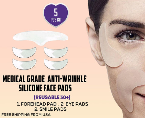 Leah Naturals Anti wrinkle Face Pads Forehead Eyes Smile Chin Pads