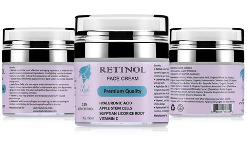 Leah Naturals Retinol Day Night Face Cream 2.5%