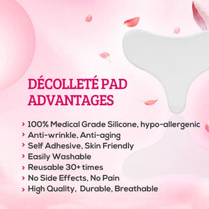 Decollette Chest Wrinkle Pad (T-Shape Elongated Triangle Shape)