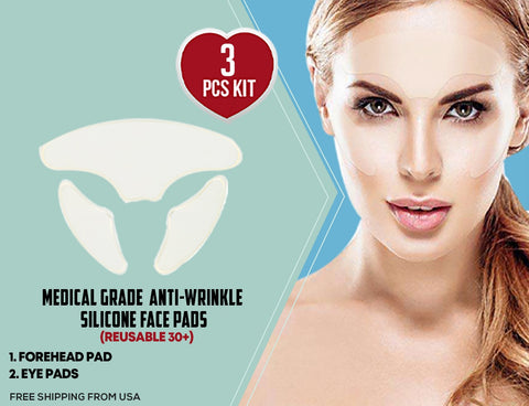 3Pcs Anti-wrinkle Silicone Face Pads (Kit)