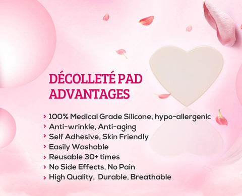 100% Medical Grade Decollete Decolletage Anti-Wrinkle Silicone Chest Pads Advantages Benefits