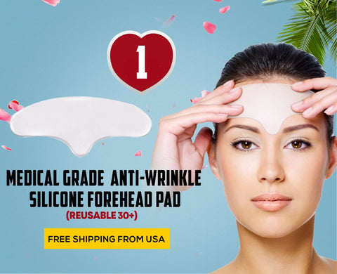 Reusable Silicone Forehead Brow Lifting Frown Lines Wrinkle Prevention Pads