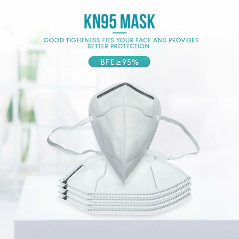 (Pack of 5) KN-95 Face Mask White for Adults