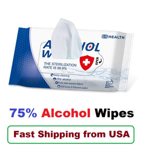 Disposable 75% Alcohol Wipes (50 Wipes)