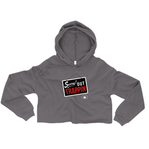 """Sorry Out Trappin"" Slumhaus Crop Hoodie"