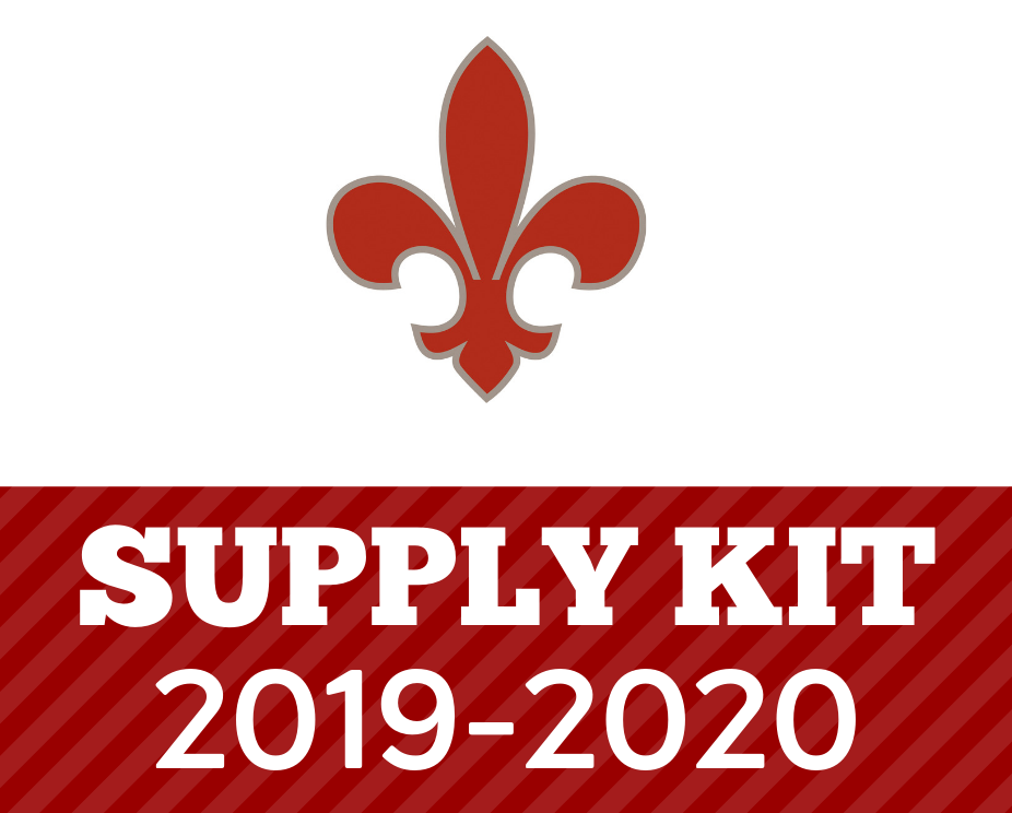New for 2019-20: Supply Kits!