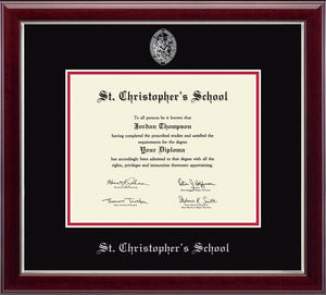 Diploma Frame in Gallery Silver