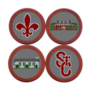 Needle Point Coaster Set